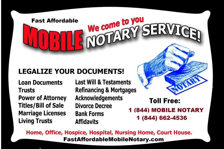 Mobile notary,St Petersburg,loan,signing,agent,wills,trust,medical,jail,title,school